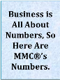 MMC® Is Celebrating Our 25th Year Anniversary. Business Is All About Numbers, So Here Are MMC®'s Numbers