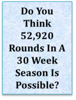 Do You Think 52,920 Rounds In A 30 Week Season Is Possible?